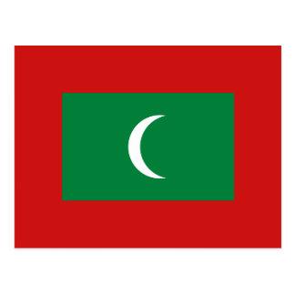 Postal de la bandera de Maldivas