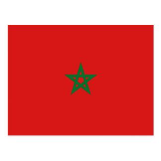 Postal de la bandera de Marruecos
