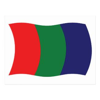 Postal de la bandera de Marte