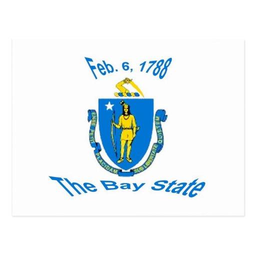 Postal de la bandera de Massachusetts