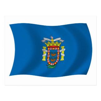 Postal de la bandera de Melilla