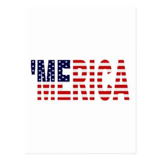 'Postal de la bandera de MERICA los E.E.U.U. Postales