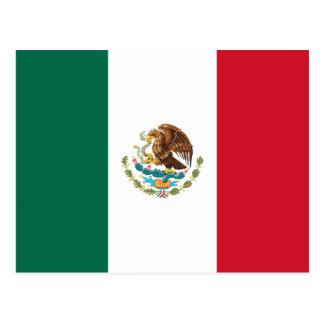 Postal de la bandera de México