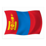 Postal de la bandera de Mongolia