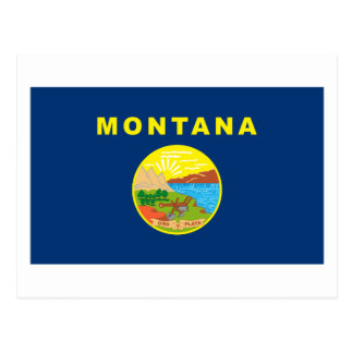 Postal de la bandera de Montana