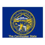 Postal de la bandera de Nebraska