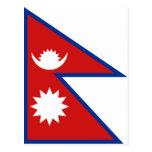 Postal de la bandera de Nepal