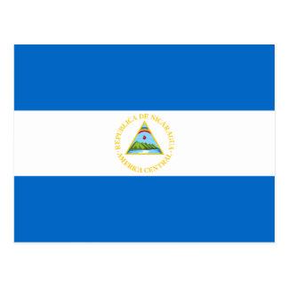 Postal de la bandera de Nicaragua