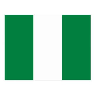 Postal de la bandera de Nigeria