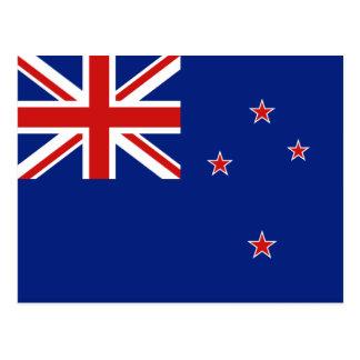 Postal de la bandera de Nueva Zelanda