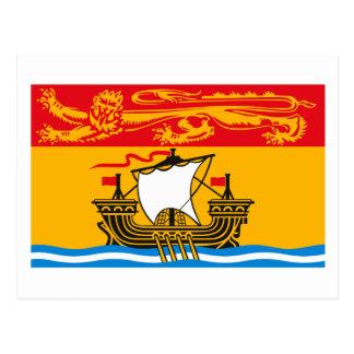 Postal de la bandera de Nuevo Brunswick