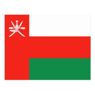 Postal de la bandera de Omán