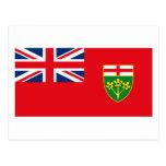 Postal de la bandera de Ontario