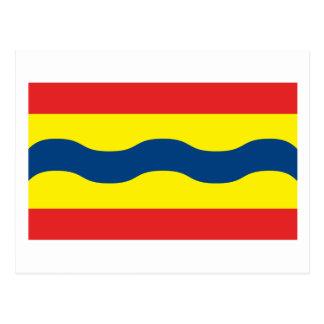 Postal de la bandera de Overijssel