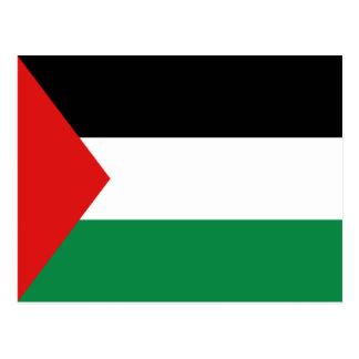 Postal de la bandera de Palestina