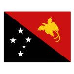Postal de la bandera de Papúa Nueva Guinea