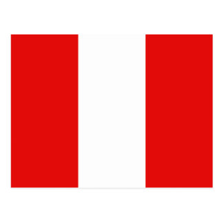 Postal de la bandera de Perú