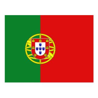Postal de la bandera de Portugal