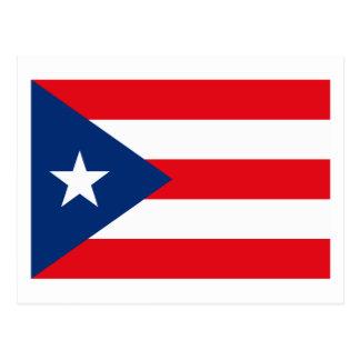 Postal de la bandera de Puerto Rico
