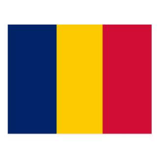 Postal de la bandera de República eo Tchad