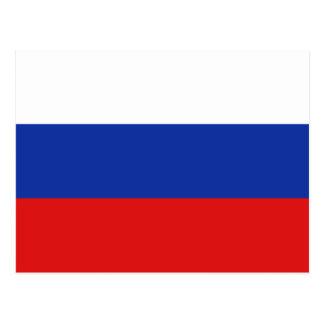 Postal de la bandera de Rusia