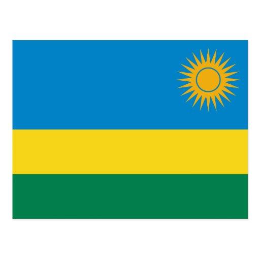 Postal de la bandera de Rwanda