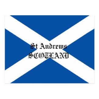 Postal de la bandera de Saint Andrews Escocia
