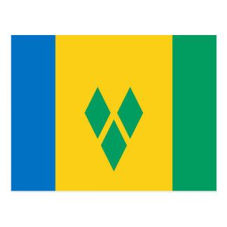 Postal de la bandera de San Vicente y las Granadin