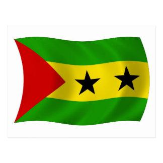 Postal de la bandera de Sao Tome and Principe