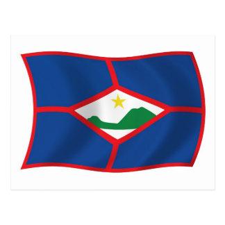 Postal de la bandera de Sint Eustatius