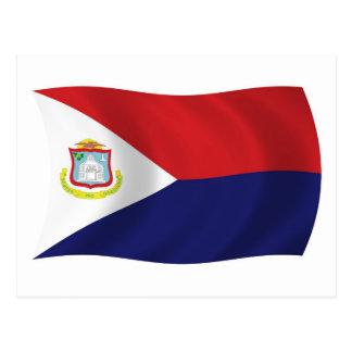 Postal de la bandera de Sint Maarten