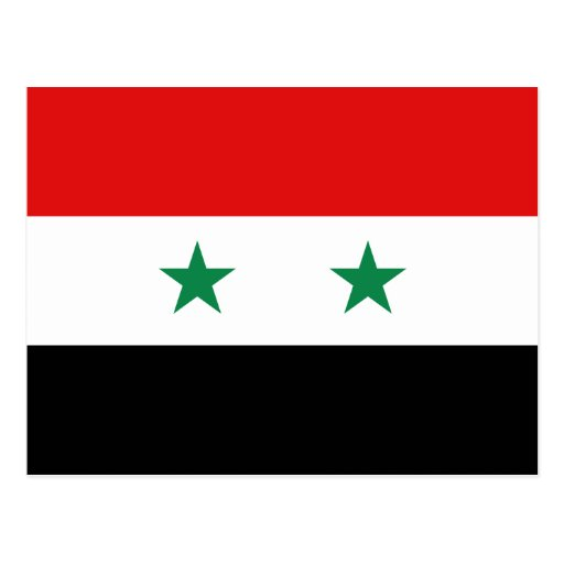 Postal de la bandera de Siria