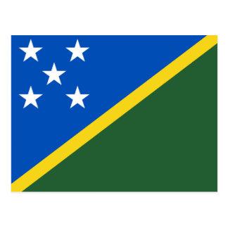Postal de la bandera de Solomon Island