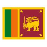 Postal de la bandera de Sri Lanka