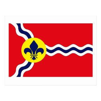 Postal de la bandera de St. Louis