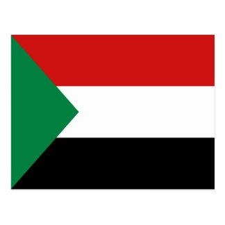 Postal de la bandera de Sudán
