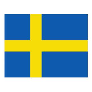 Postal de la bandera de Suecia