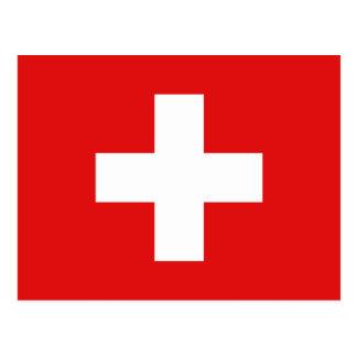 Postal de la bandera de Suiza
