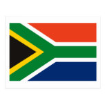 Postal de la bandera de Suráfrica