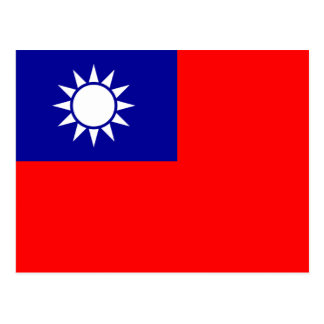 Postal de la bandera de Taiwán