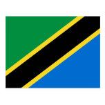 Postal de la bandera de Tanzania