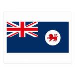 Postal de la bandera de Tasmania