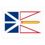 Postal de la bandera de Terranova