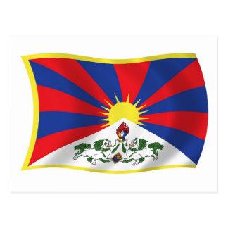 Postal de la bandera de Tíbet