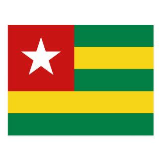 Postal de la bandera de Togo
