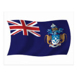 Postal de la bandera de Tristan DA Cunha