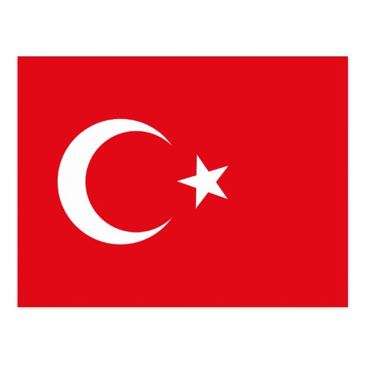 Postal de la bandera de Turquía