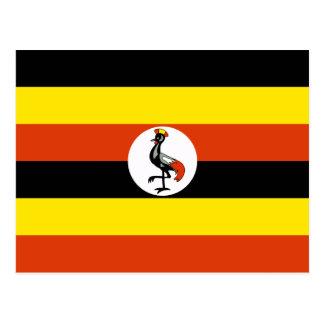 Postal de la bandera de Uganda