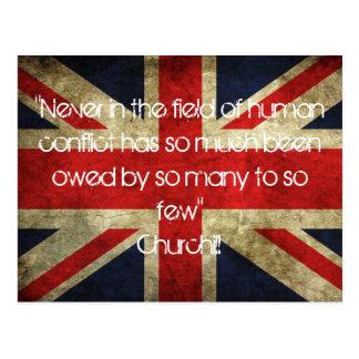 Postal de la bandera de unión de Churchill