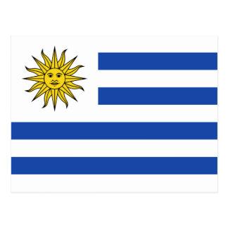 Postal de la bandera de Uruguay